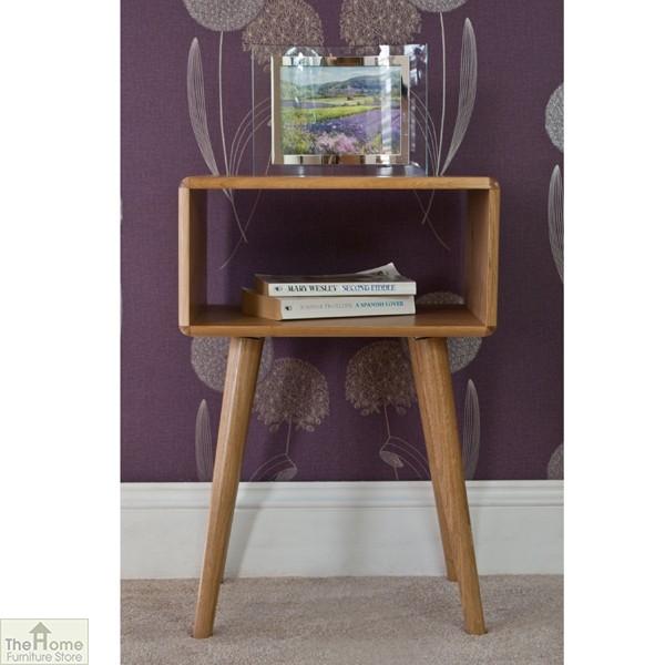 Casamoré Retro Style Oak Side Table Unit_1