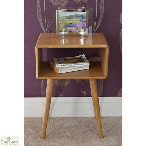 Casamoré Retro Style Oak Side Table Unit_2