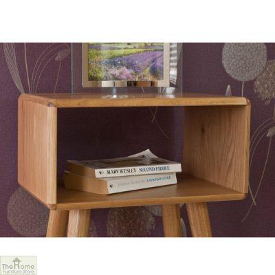 Retro Style Oak Bedside Table_5
