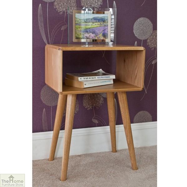 Casamoré Retro Style Oak Side Table Unit_4