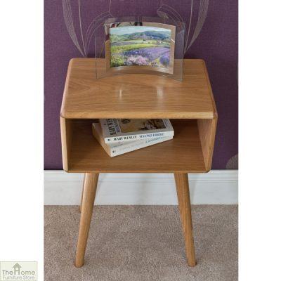 Retro Style Oak Bedside Table_3