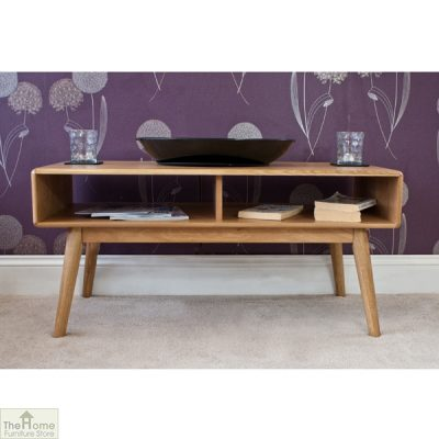 Casamoré Retro Style Oak Coffee Table_2