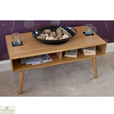 Casamoré Retro Style Oak Coffee Table_3