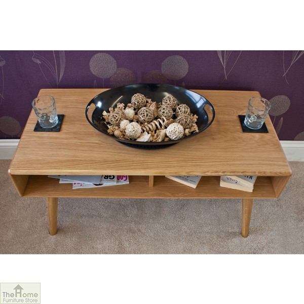 Casamoré Retro Style Oak Coffee Table_4