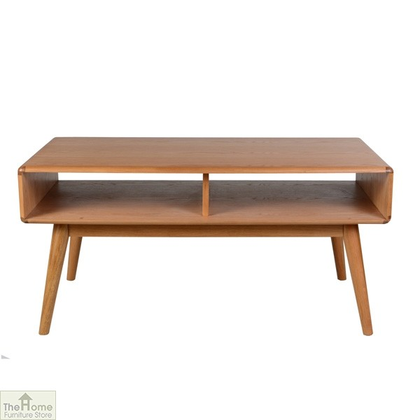 Casamor Retro Style Oak Coffee Table The Home Furniture Store