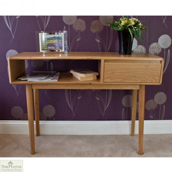 Casamoré Retro Style Oak Console Table_2