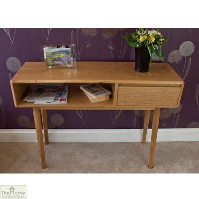 Casamoré Retro Style Oak Console Table_3