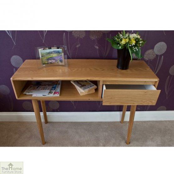 Casamoré Retro Style Oak Console Table_4