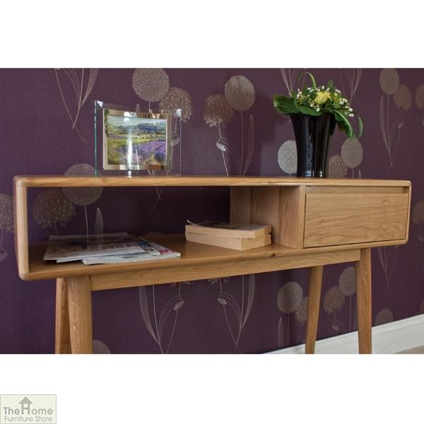 Casamoré Retro Style Oak Console Table_5
