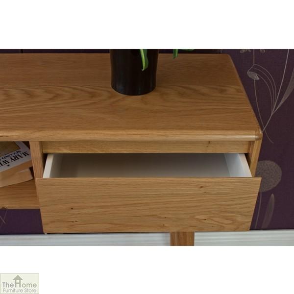 Casamoré Retro Style Oak Console Table_6