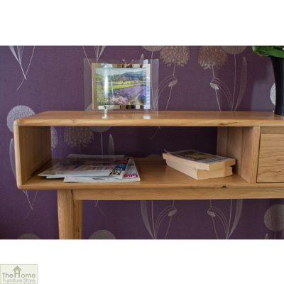 Casamoré Retro Style Oak Console Table_7