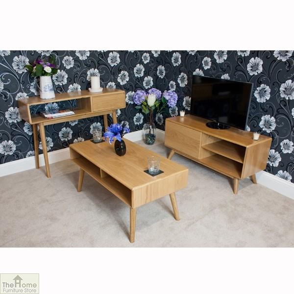 Casamoré Retro Style Oak Console Table_11