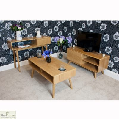 Casamoré Retro Style Oak Coffee Table_9