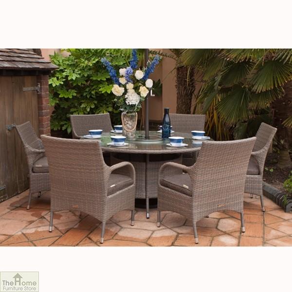 Rio Classic 145cm Round 6 Seat Dining Set_2