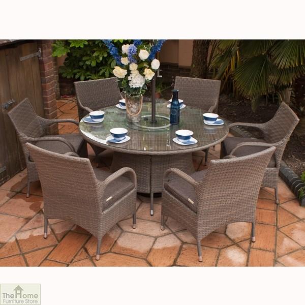 Rio Classic 145cm Round 6 Seat Dining Set_3