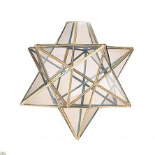 Star Pendant Light Shade / Brass