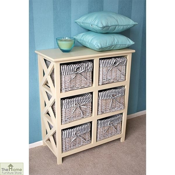 Selsey 6 Drawer Wicker Storage Unit The Home Furniture Store