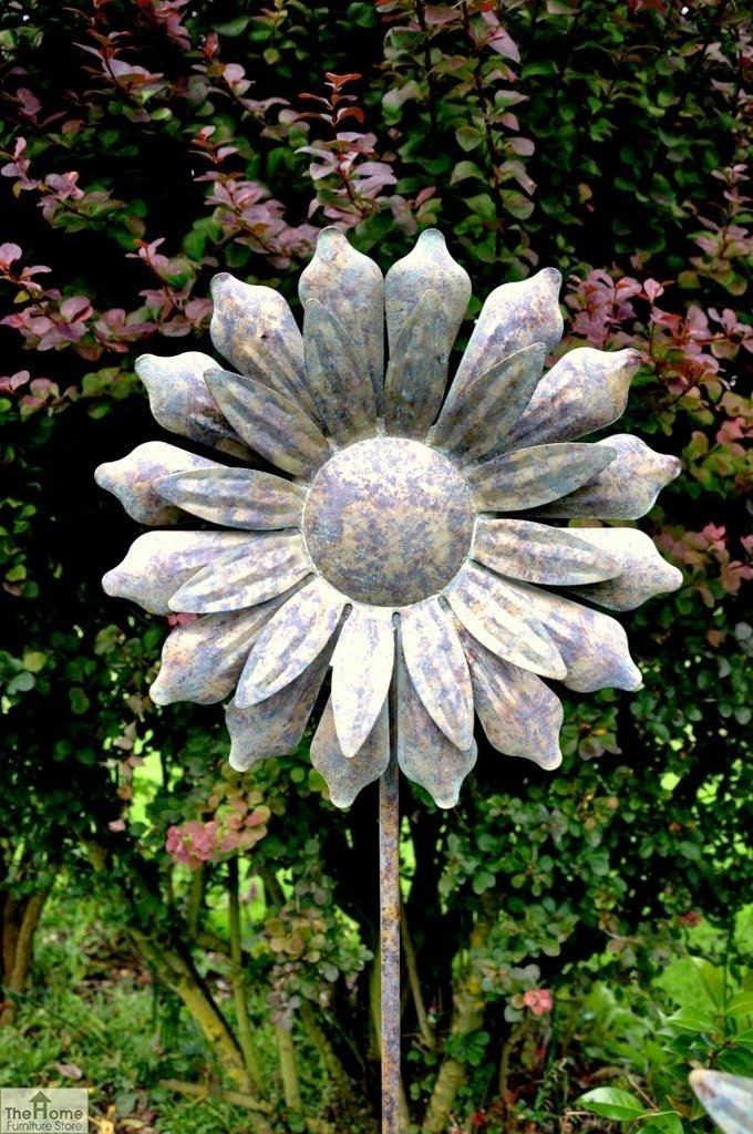 Metal Sunflower Windmill