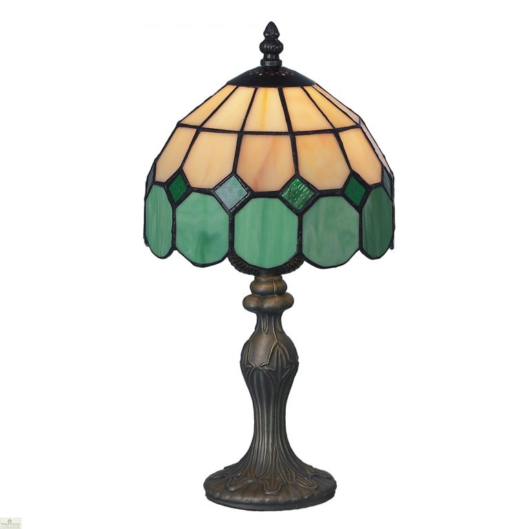 Beige Green Bistro Table Lamp