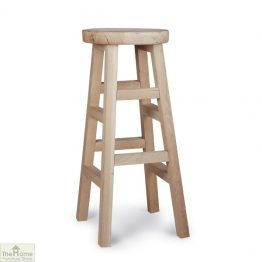 Raw Oak Tall Bar Stool