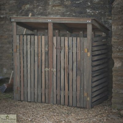 Double Wooden Wheelie Bin Storage_1