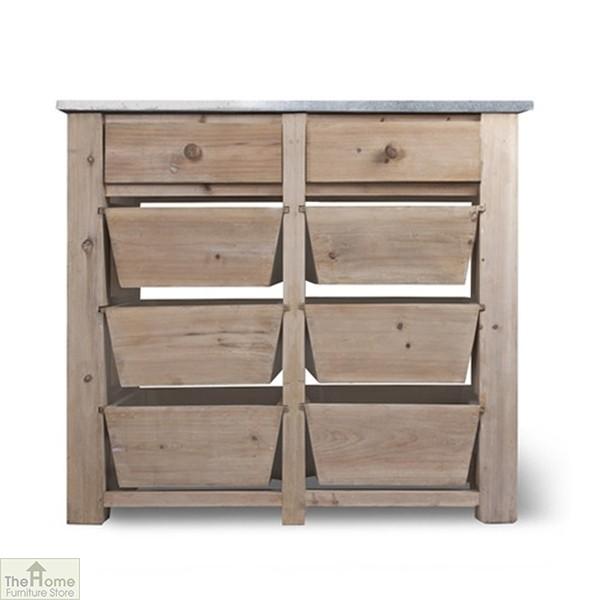 Spruce Wood 8 Drawer Storage Unit