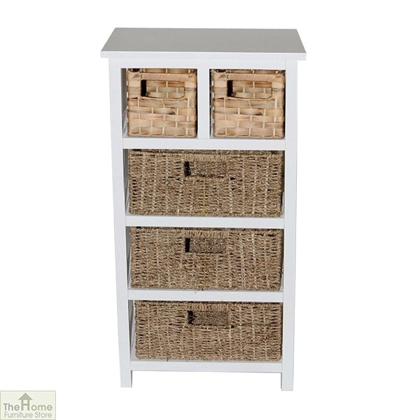 Camber Natural 5 Drawer Tallboy Unit