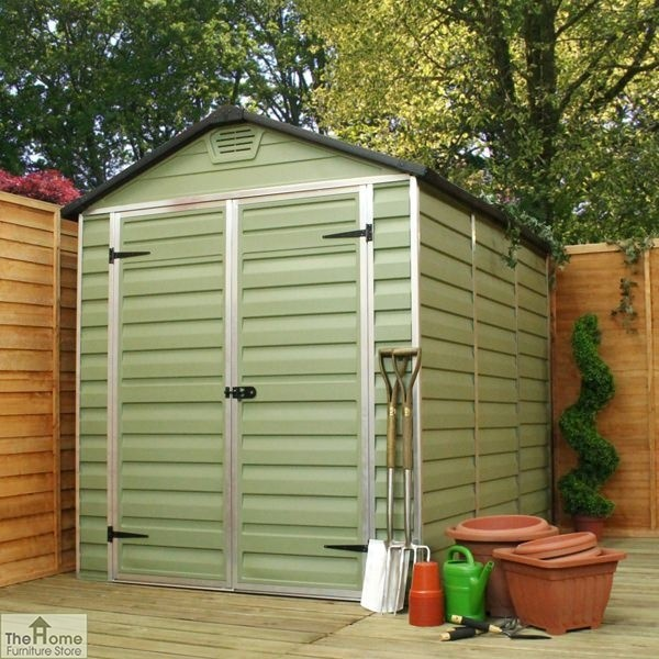Green 10 x 6 Plastic Shed_1