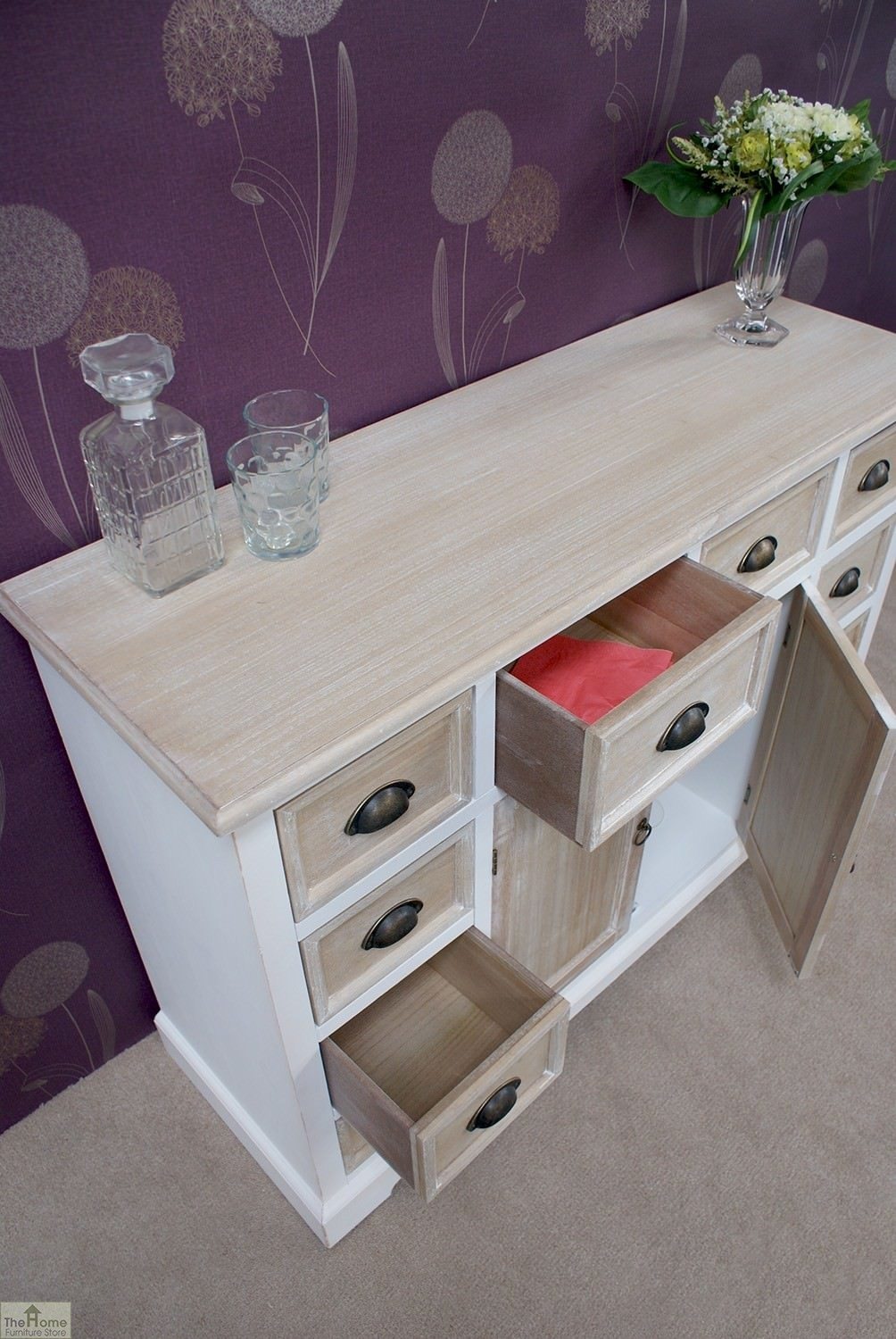 Cotswold 10 drawer 2 door sideboard the home furniture store Home furniture outlet uk