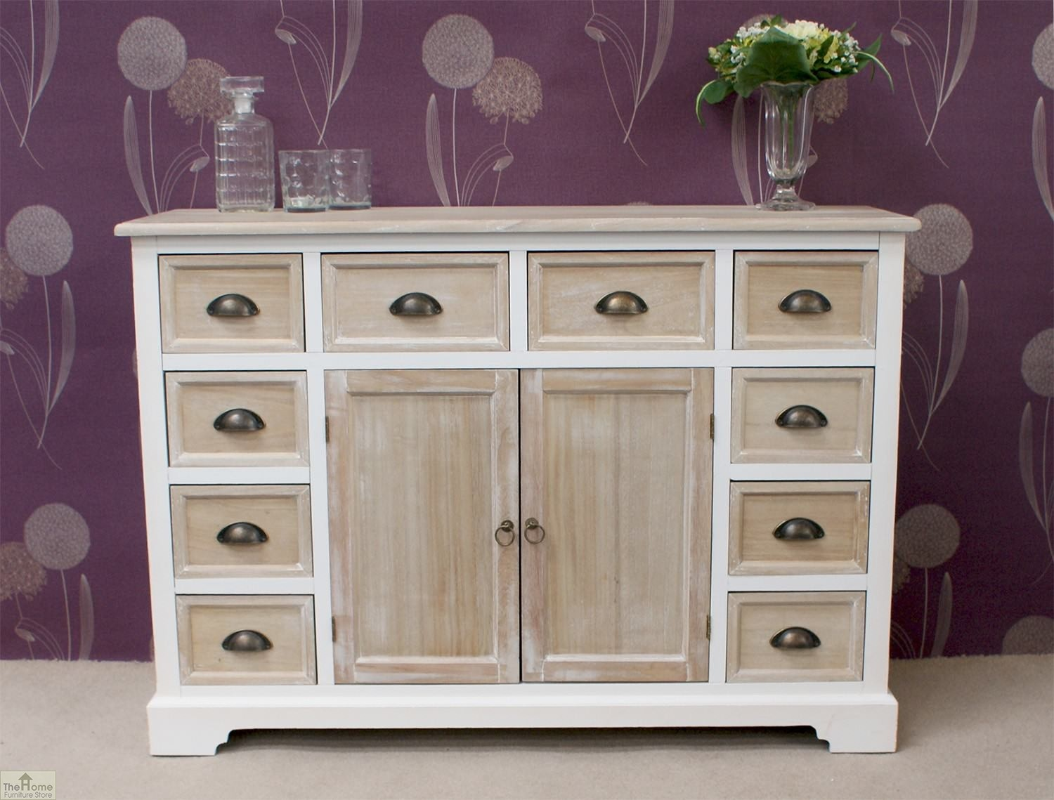 cotswold 10 drawer 2 door sideboard the home furniture store. Black Bedroom Furniture Sets. Home Design Ideas