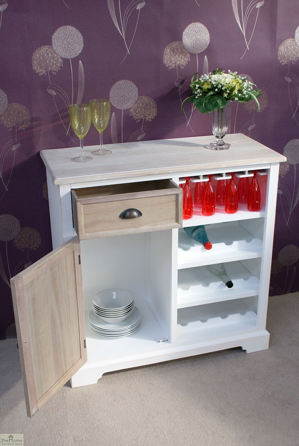 Cotswold Wine Rack Sideboard 187 The Home Furniture Store