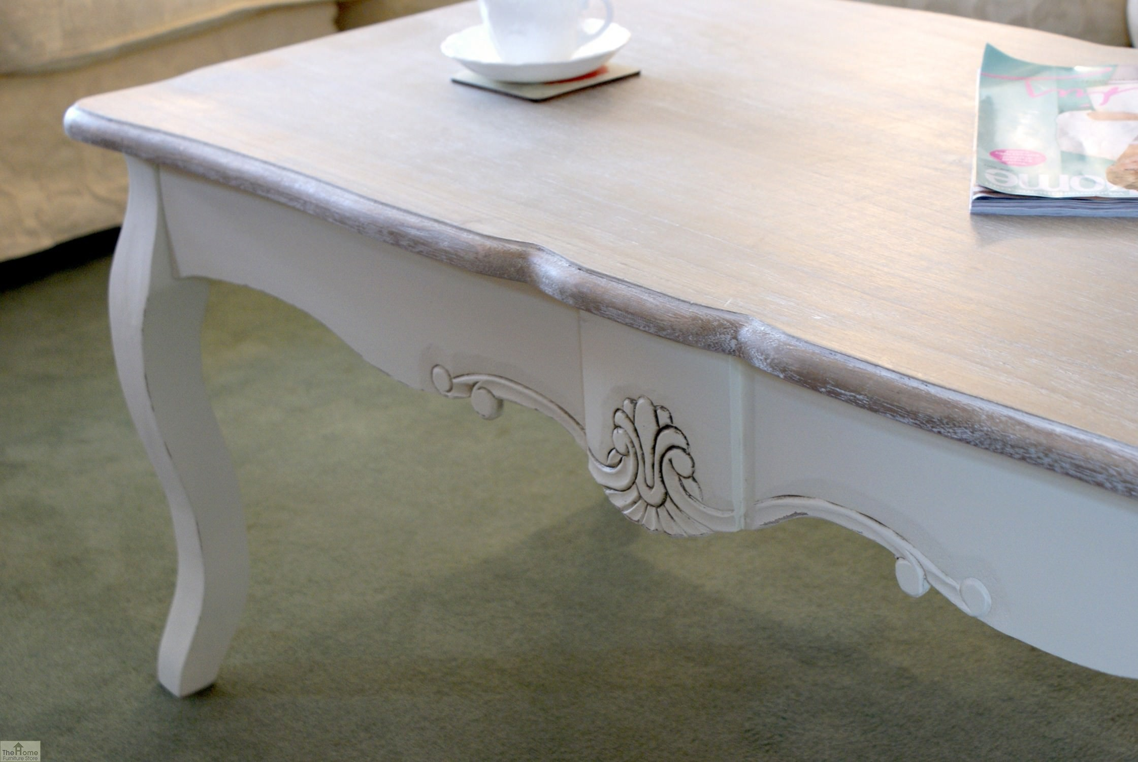 Devon shabby chic coffee table the home furniture store for Home furniture coffee tables