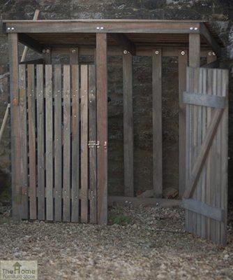Double Wooden Wheelie Bin Storage_2