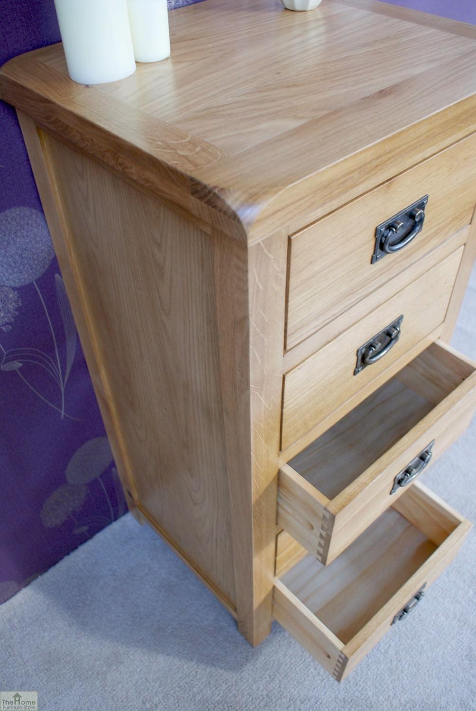 farmhouse oak 5 drawer tallboy the home furniture store