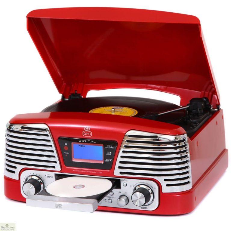 Retro Vinyl Record Player Turntable