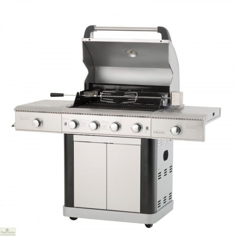 St Lucia 4 Burner Stainless Steel Gas BBQ