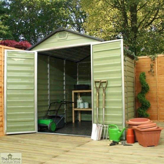 Green 8 x 6 Plastic Shed_2