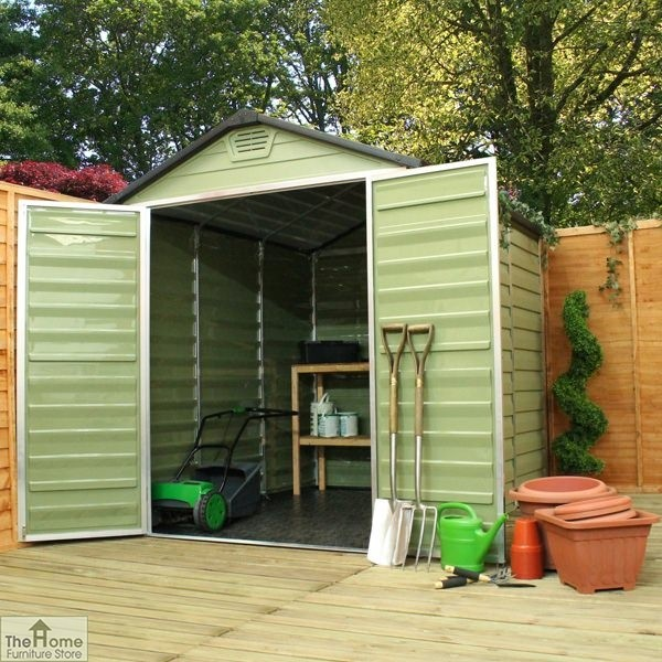Green 10 x 6 Plastic Shed_2
