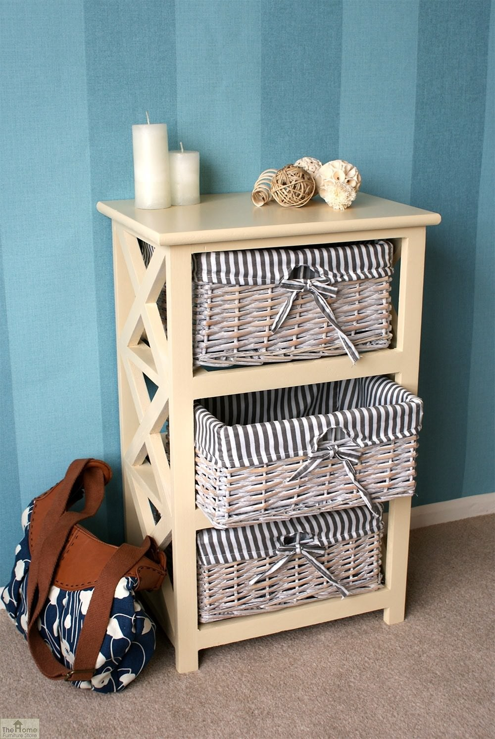 selsey 3 drawer wicker storage unit the home furniture store. Black Bedroom Furniture Sets. Home Design Ideas