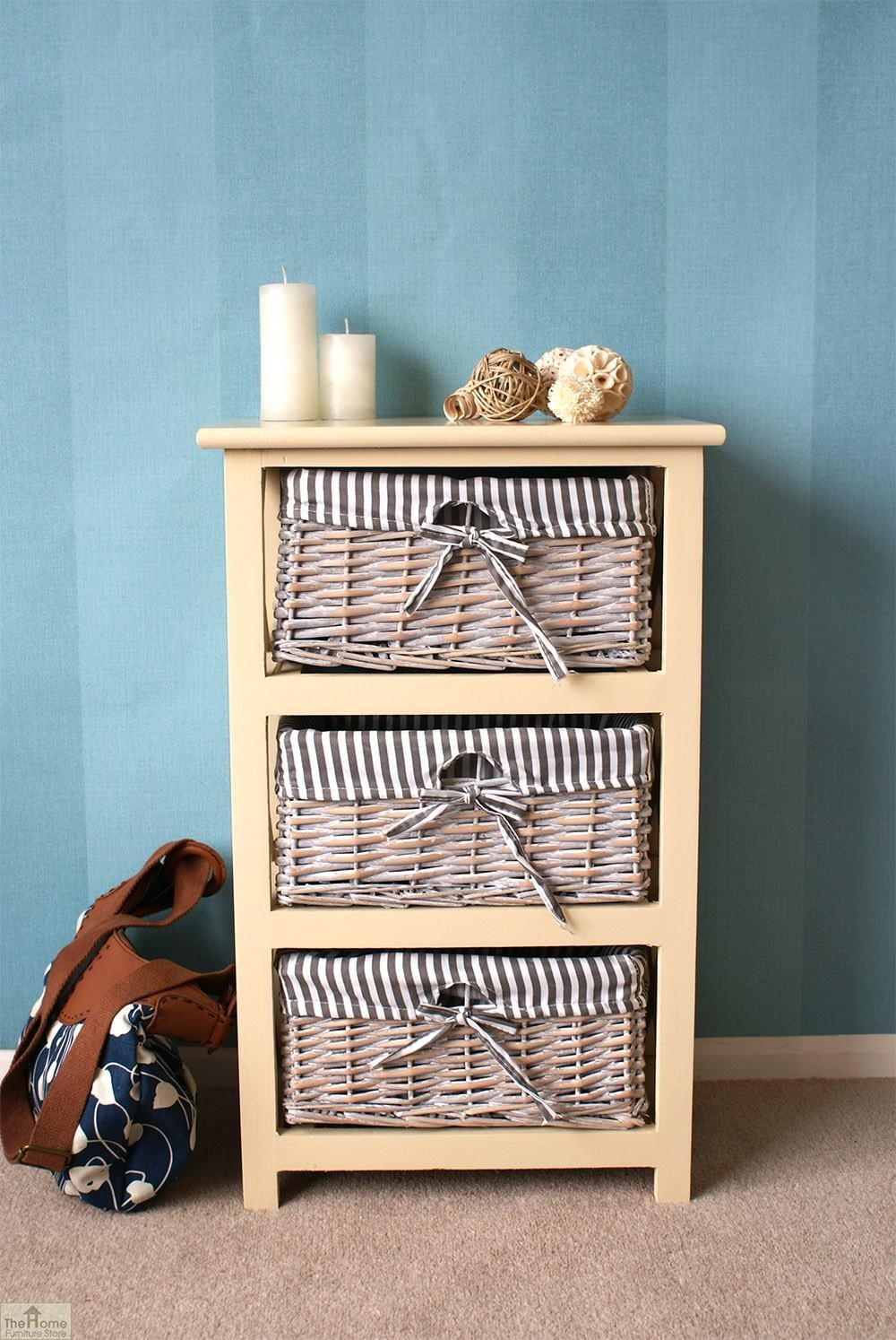 Selsey 3 Drawer Wicker Storage Unit The Home Furniture Store