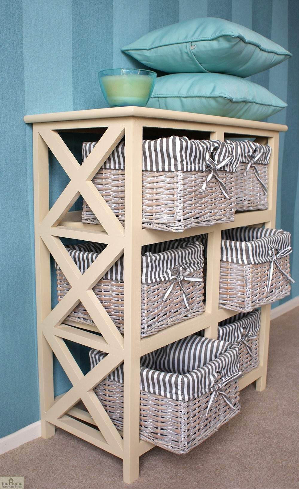 Selsey 6 drawer wicker storage unit the home furniture store for Kitchen drawer units for sale