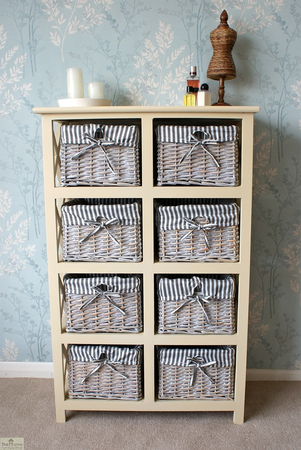 Basket Storage With Drawers Cabinets ~ Selsey drawer wicker storage unit the home furniture store