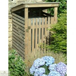 Single Wheelie Bin Wooden Storage_1