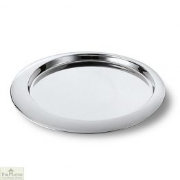 Polished Round Serving Tray