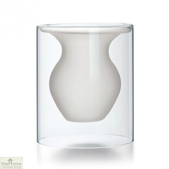Contemporary White Vase