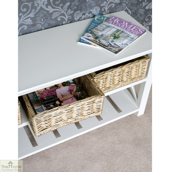 Gloucester 3 Basket Shoe Storage Bench_6