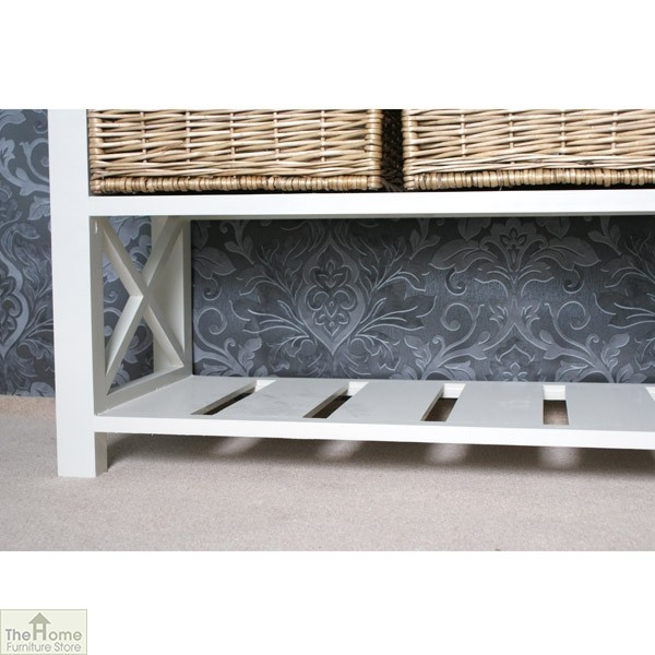 Gloucester 3 Basket Shoe Storage Bench_5