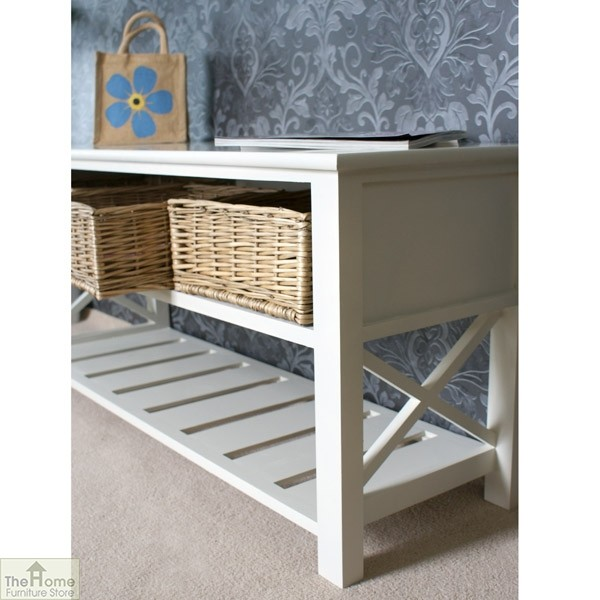 Gloucester 3 Basket Shoe Storage Bench_4
