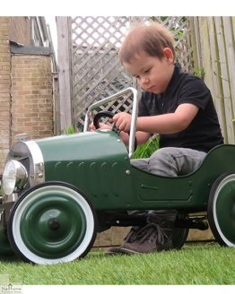 Classic Childrens Green Pedal Car-1