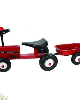 Childrens Ride On Red Tractor And Trailer_2